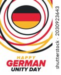 german unity day. celebrated... | Shutterstock .eps vector #2030923643
