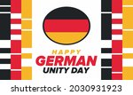 german unity day. celebrated... | Shutterstock .eps vector #2030931923
