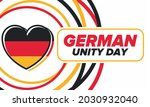 german unity day. celebrated... | Shutterstock .eps vector #2030932040
