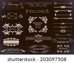 calligraphic design elements... | Shutterstock . vector #203097508