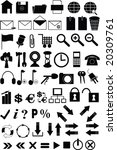 set of icons for the website | Shutterstock . vector #20309761