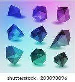 modern crystal black label ... | Shutterstock . vector #203098096