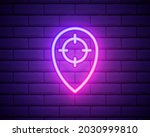 pin neon style icon. simple...