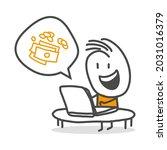 stick figures. finance  online  ... | Shutterstock .eps vector #2031016379
