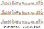 autumn residential street scene ... | Shutterstock .eps vector #2031031436