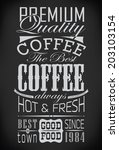 set of coffee labels on... | Shutterstock . vector #203103154