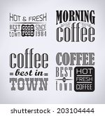 set of coffee   cafe labels ... | Shutterstock . vector #203104444