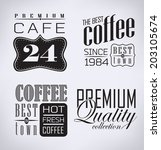 coffee   cafe label         an... | Shutterstock . vector #203105674