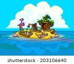 the cartoon illustration of a... | Shutterstock . vector #203106640