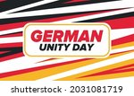 german unity day. celebrated... | Shutterstock .eps vector #2031081719