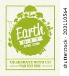 earth day eco green vector... | Shutterstock .eps vector #203110564