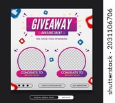 giveaway winner announcement... | Shutterstock .eps vector #2031106706