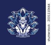 nine tailed fox logo for gamer... | Shutterstock .eps vector #2031110666