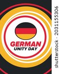 german unity day. celebrated... | Shutterstock .eps vector #2031155306
