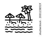 beach sandy resort line icon... | Shutterstock .eps vector #2031158519