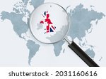 world map with a magnifying... | Shutterstock .eps vector #2031160616
