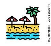 beach sandy resort color icon... | Shutterstock .eps vector #2031160949