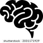 human brain monochrome vector...   Shutterstock .eps vector #2031171929