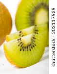 kiwi juice fruit isolated with... | Shutterstock . vector #203117929