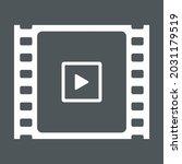 video tape photo film strip... | Shutterstock .eps vector #2031179519