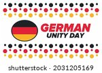 german unity day. celebrated... | Shutterstock .eps vector #2031205169