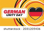 german unity day. celebrated... | Shutterstock .eps vector #2031205436