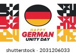 german unity day. celebrated... | Shutterstock .eps vector #2031206033