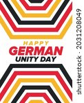 german unity day. celebrated... | Shutterstock .eps vector #2031208049