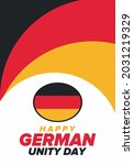 german unity day. celebrated... | Shutterstock .eps vector #2031219329