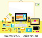 creative vector design elements ... | Shutterstock .eps vector #203122843