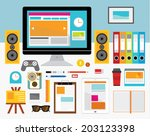 creative design elements of... | Shutterstock .eps vector #203123398