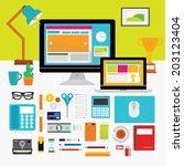 creative design elements of... | Shutterstock .eps vector #203123404