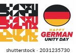 german unity day. celebrated... | Shutterstock .eps vector #2031235730