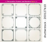 decorative square frames and... | Shutterstock .eps vector #203127610