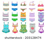 Set Of Swimwears For Little...