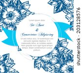 wedding invitation cards with... | Shutterstock . vector #203128576