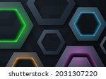 modern polygon shape dimension... | Shutterstock .eps vector #2031307220