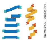 ribbon set flat design | Shutterstock .eps vector #203131894
