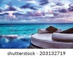 luxury beach resort  beautiful... | Shutterstock . vector #203132719