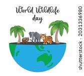 world wildlife day. happy... | Shutterstock .eps vector #2031336980