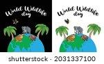 world wildlife day. happy... | Shutterstock .eps vector #2031337100