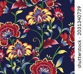 beautiful seamless pattern with ... | Shutterstock . vector #2031340739