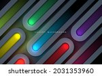luxury rounded dimension layers ... | Shutterstock .eps vector #2031353960