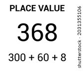 place value chart. one tens and ... | Shutterstock .eps vector #2031355106