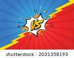 vector versus letters fight red ... | Shutterstock .eps vector #2031358193