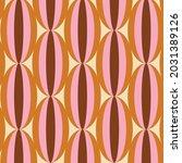 70's retro seamless pattern.... | Shutterstock .eps vector #2031389126