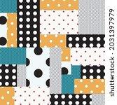vector polka dot patchwork... | Shutterstock .eps vector #2031397979