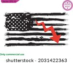 us flag  of economic recovery... | Shutterstock .eps vector #2031422363