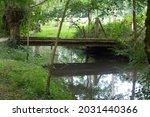 Bucolic Wooden Bridge And...