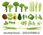 green goods  fresh vegetables ... | Shutterstock .eps vector #2031458813